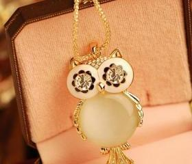 Super Flash owl necklace AEBJE